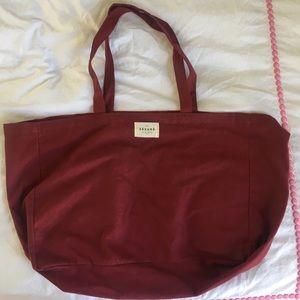 Sézane Burgundy Red Tote Bag